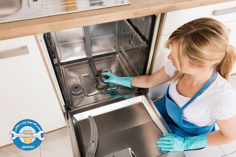 برطرف کردن مشکل تخلیه نشدن آب ماشین ظرفشویی ال جی